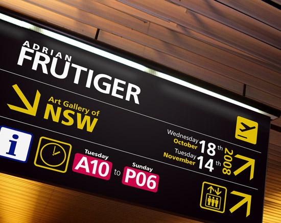 Frutiger font in signage